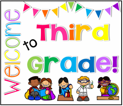 Image result for welcome to 3rd grade clipart